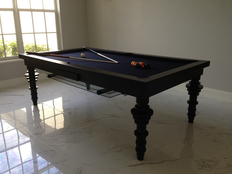 Contemporary Dining Room Pool Table