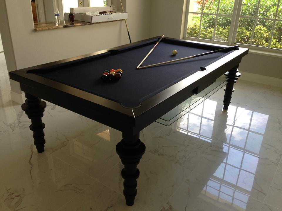Contemporary Dining Room Pool Table 2