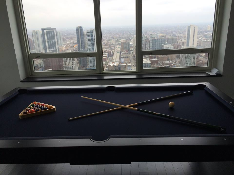 Contemporary Dining Room Pool Table 4