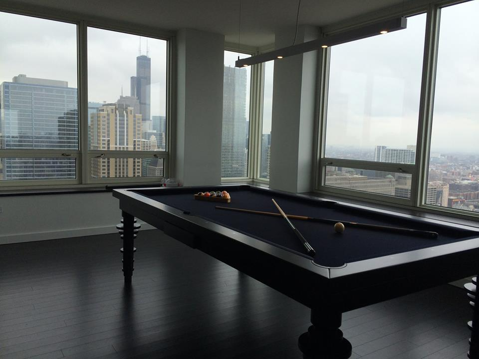 Contemporary Dining Room Pool Table 5