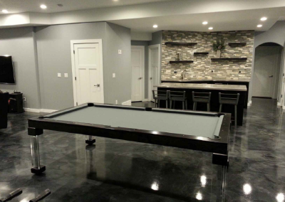 Steel Dining Room Pool Table 1